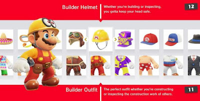 Super Mario Odyssey, helmet, Change Outfits