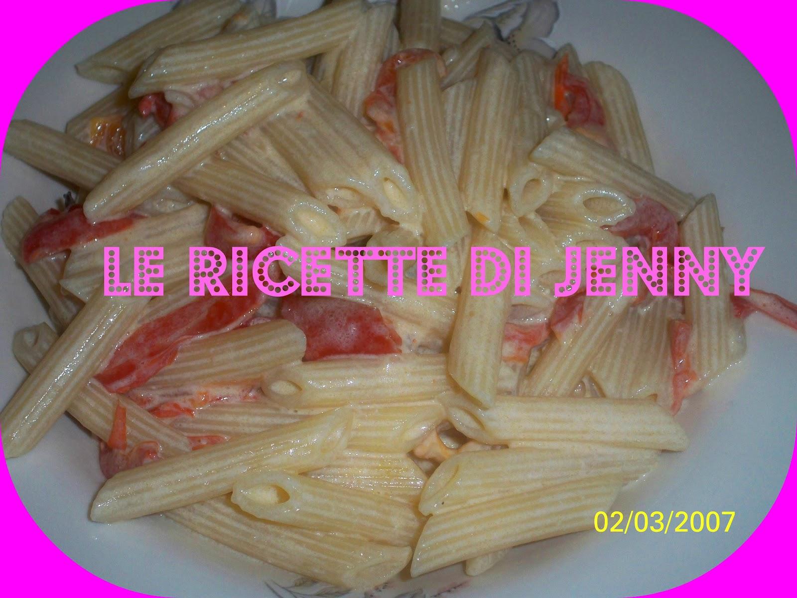le ricette di jenny passione e fantasia in cucina penne