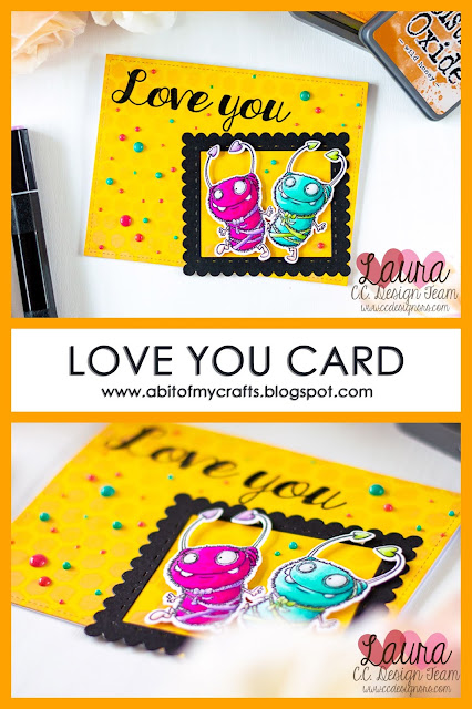 Valentine's Day Card with NuvoDrops and CC Designs Cutie Bug Pinterest