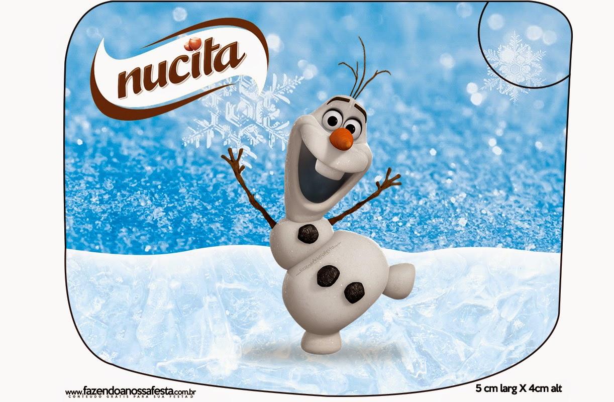 Etiquetas Nucita de Olaf para imprimir gratis.