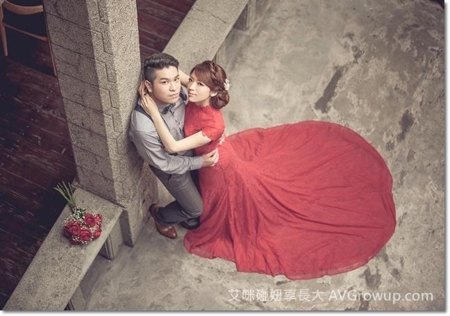 新娘捧花-大紅玫瑰-仿真花-婚紗道具