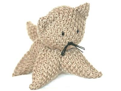 Como hacer un gato amigurimi con trozos de tejido