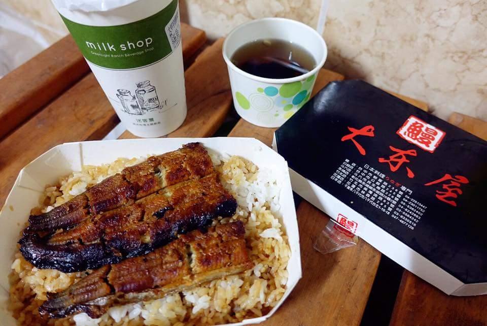 斗六《大東屋鰻魚飯》外帶不錯吃,但下次還是在店裡現點現吃比較好吃!