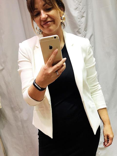 white blazer hm