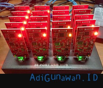 cara setting USB Redfury ASIC Miner