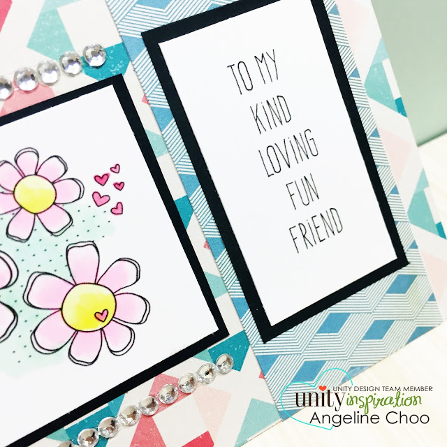 Unity Stamp: SOTW - Loving Friends Daisies #unitystampco #scrappyscrappy #sotw #stamp #card
