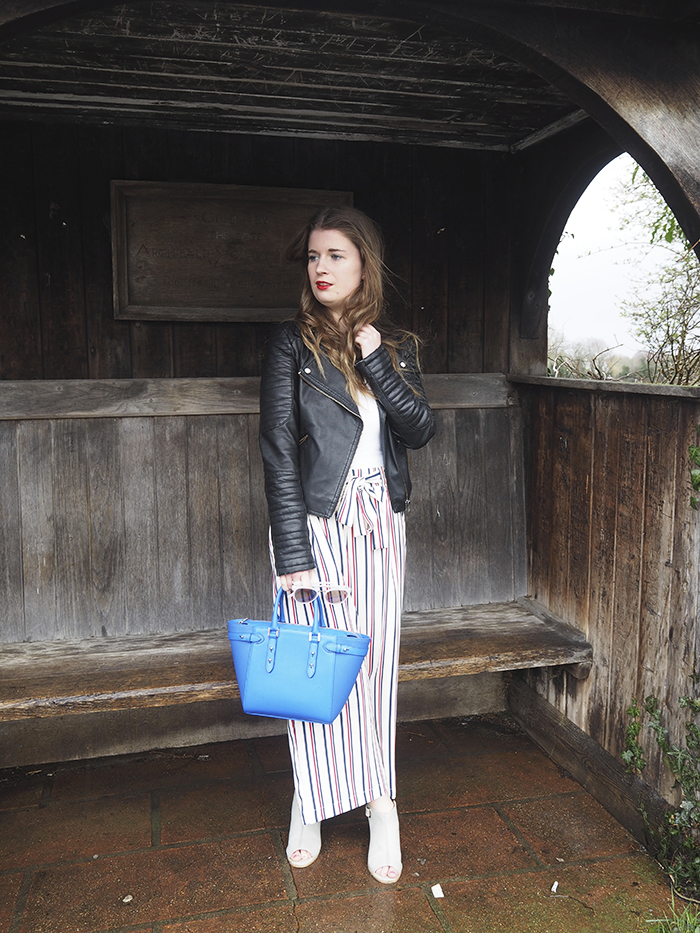 Stripe trousers zara bloggers