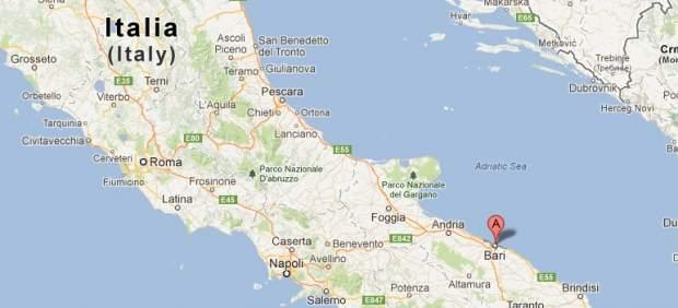 Mapa da cidade de Bari