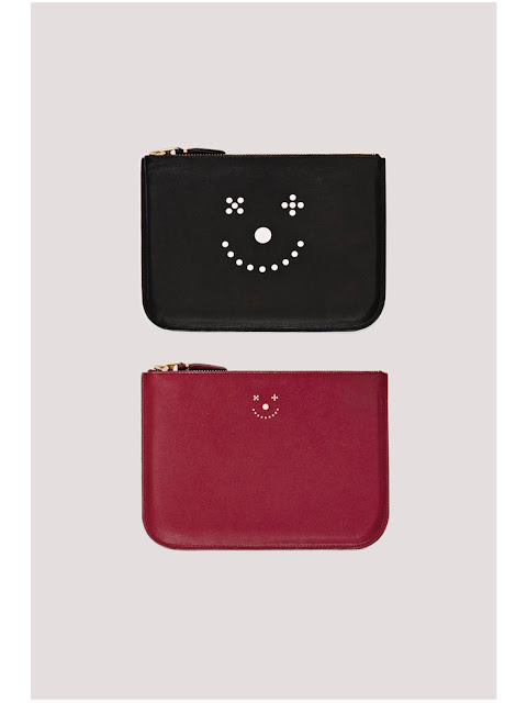 Jijibaba smile face black wallet and red wallet