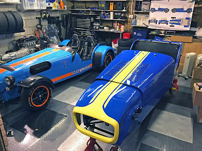 Two Caterhams in my garage now - lighting not great in picture