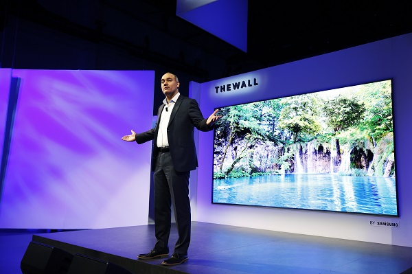 CES 2018: SAMSUNG debuts world's first Modular MicroLED 146-inch TV, 'The Wall'
