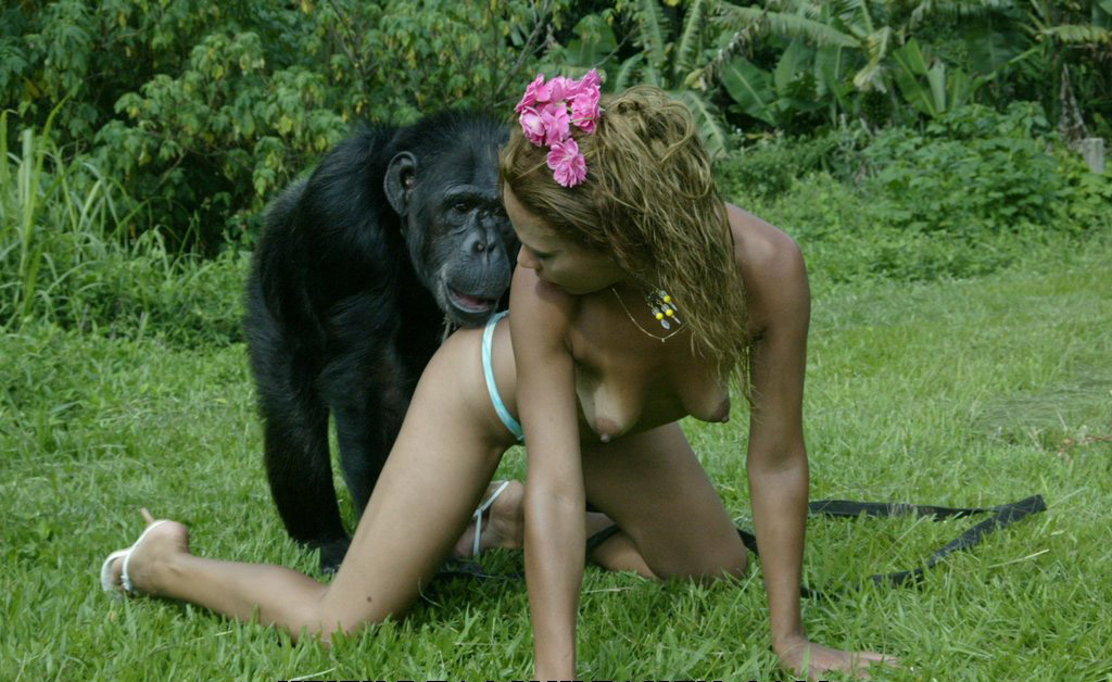 Think only! Women having sex with a monkey with