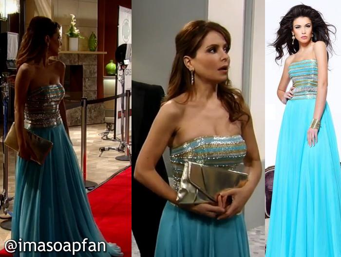 Olivia Falconeri, Lisa LoCicero, Blue Dress, Sherri Hill, Nurses Ball, GH, General Hospital, Season 52, Episode 28, 5/08/14