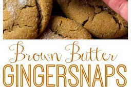 Recipe - Soft and Chewy Brown Butter Gingersnaps