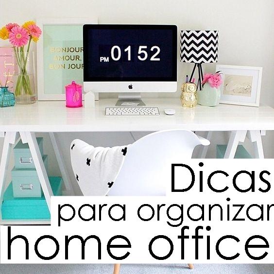 Dicas de organização home office