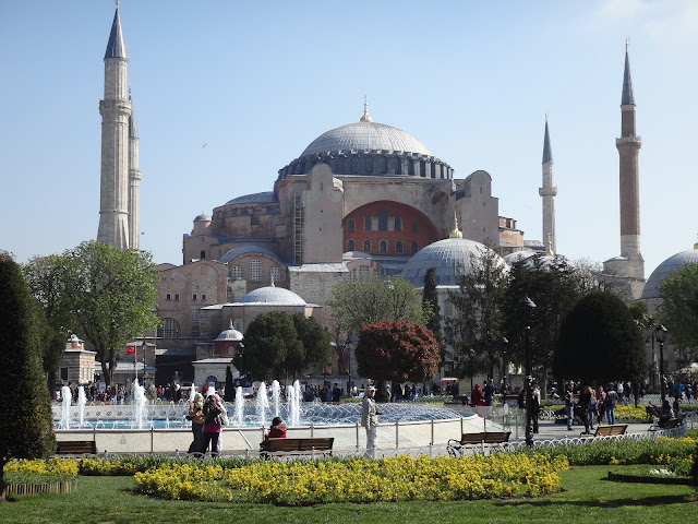 Hagia Sophia is an important monment during Byzantine (as a church) and for Ottoman Empires (later a mosque) and now is a museum at Sultanahmet in Istanbul, Turkey