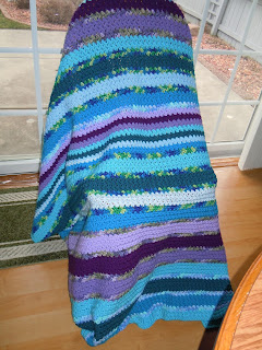 Green Crochet Afghan Pattern : Craftdrawer Crafts: Shades of Blue, Green and Purple ...