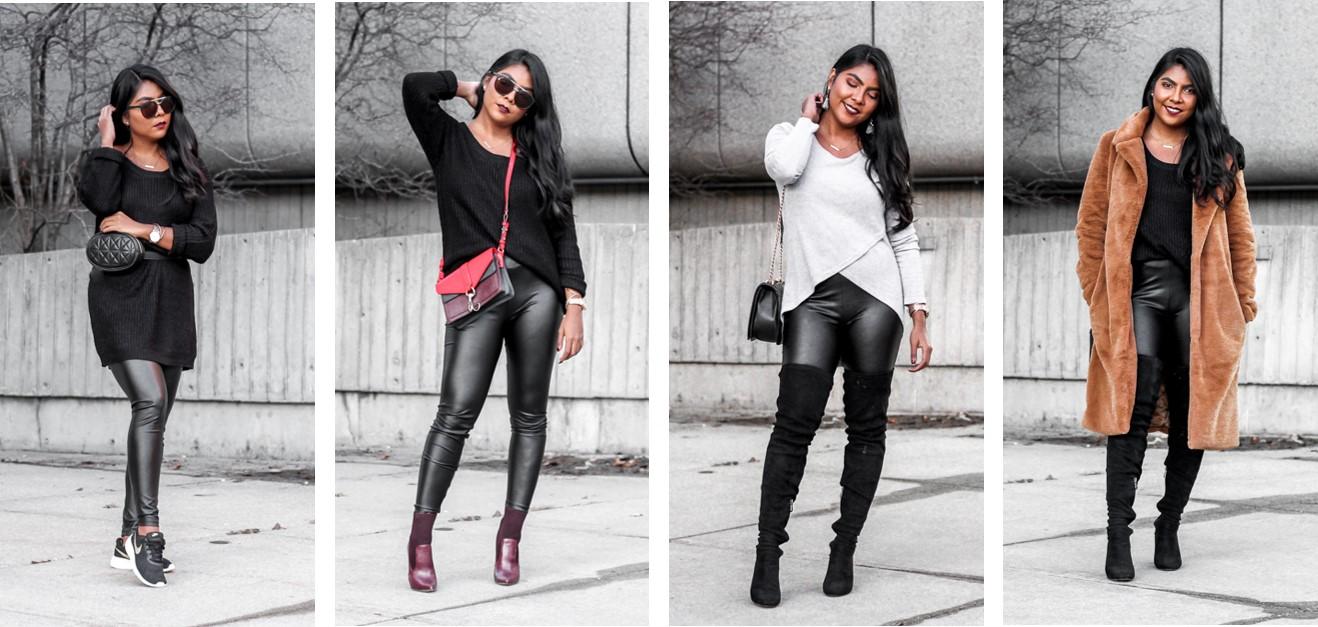 d517b415d2389 4 ways to wear black leather leggings - The color palette a ...