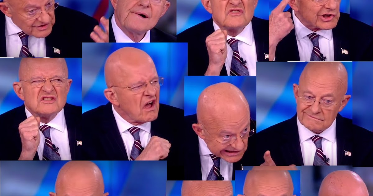 12 FACES: Some Truly Disturbing Images of James Clapper on the View