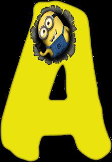 Abecedario con Minions. Alphabet with Minions.
