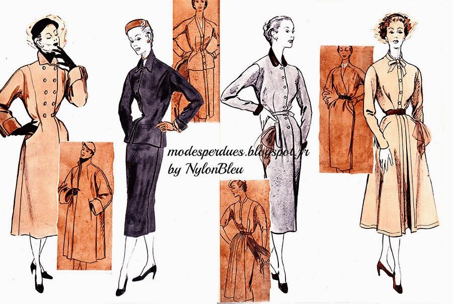 6aa1564c70a Ce manteau d une forme très nouvelle est fait d un beau tissu qui en rend  l exécution particulièrement facile. Vous le porterez dès septembre sur la robe  de ...