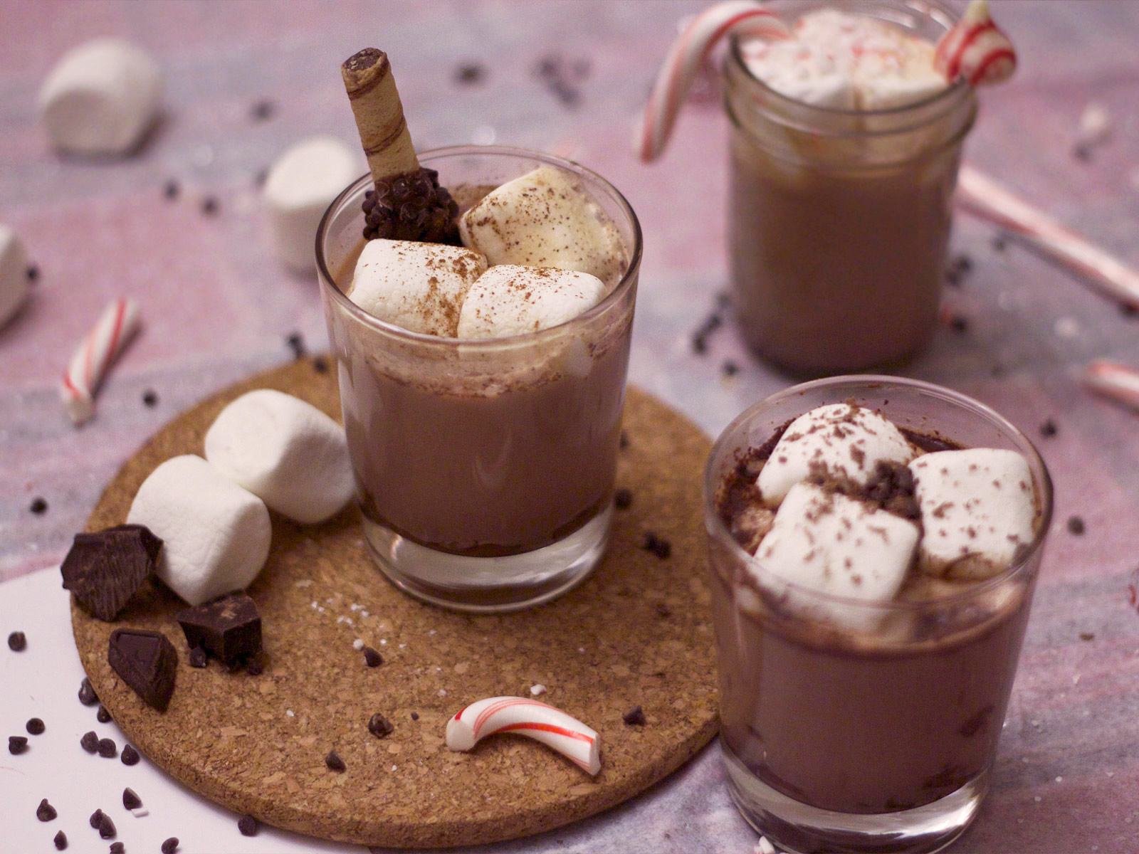 spiked hot chocolate cocoa recipes cocktails rum baileys irish cream peppermint nutella captain morgan cinnamon nutmeg spices spicy