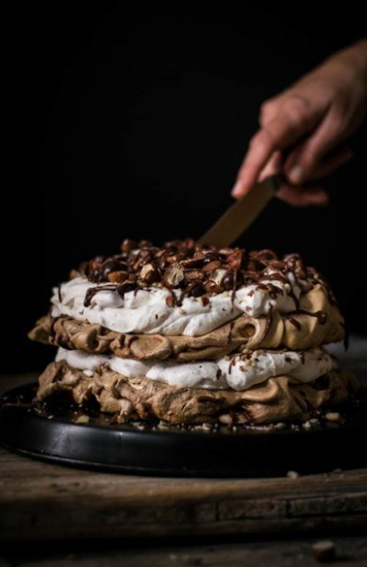 LAYERED CHOCOLATE HAZELNUT PAVLOVA