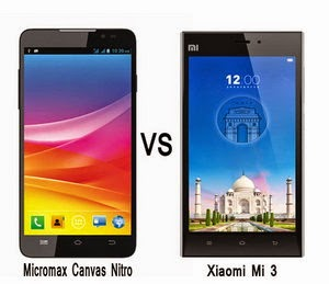 Comparison : Micromax Canvas Nitro A310 vs Xiaomi Mi 3