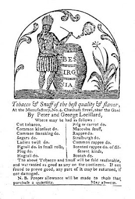 1789 Lorillard Tobacco Advertisement