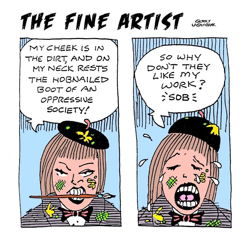 fine artist painter cartoon
