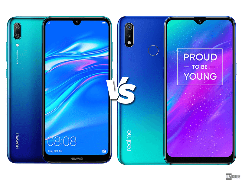Huawei Y7 Pro 2019 vs realme 3 Specs Comparison