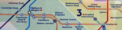 new tube map (fare zone version) August 2011