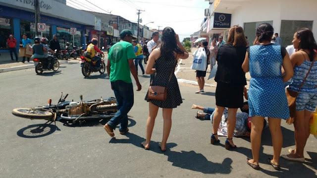 Grave acidente hoje pela manhã na T-9 com Av. Brasil em Ji-Paraná