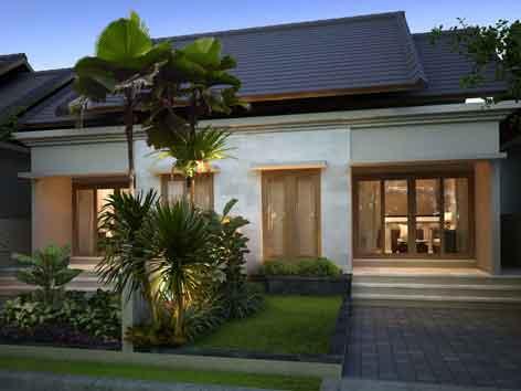 hiasan dinding minimalis - desain belakang rumah