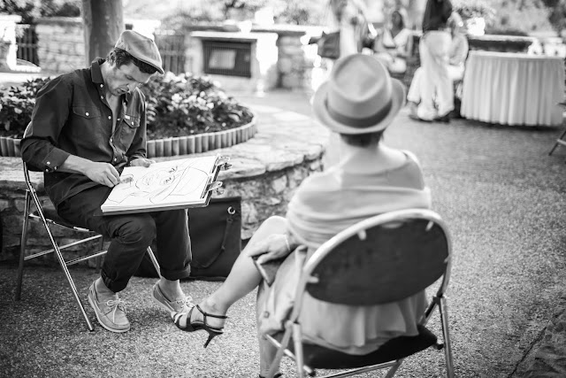 Caricaturiste Lyon en action