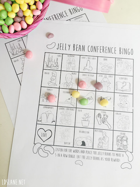 Jelly Bean LDS General Conference Bingo - ldslane.net