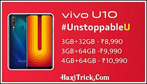 Vivo U10 के फीचर्स Launch Date कब लॉन्च होगा कितने का है Price In India Hindi