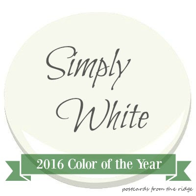 2016 Color of the Year Simply White