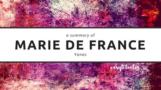 summary of marie de france's yonec