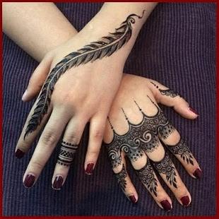 mehndi design on fingers only
