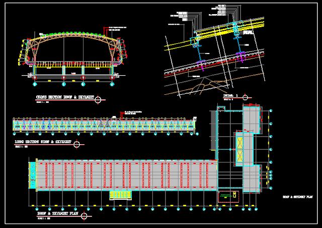 Gambar Kerja Detail Konstruksi Atap Skylight