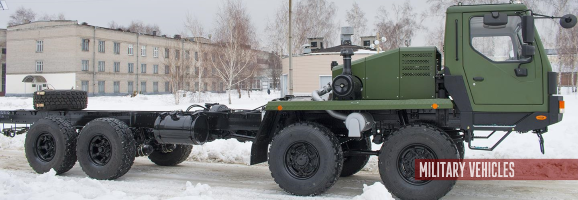 8х8 KrAZ-7634НЕ cab chassis truck