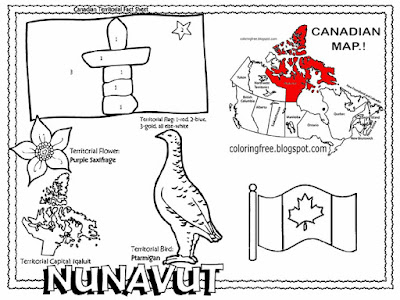 Ptarmigan bird country existence Canadian wildlife image Iqualuit City Nunavut Canada coloring pages
