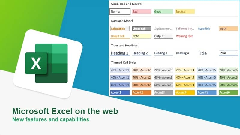 Microsoft adds new features and capabilities to Microsoft Excel on the web