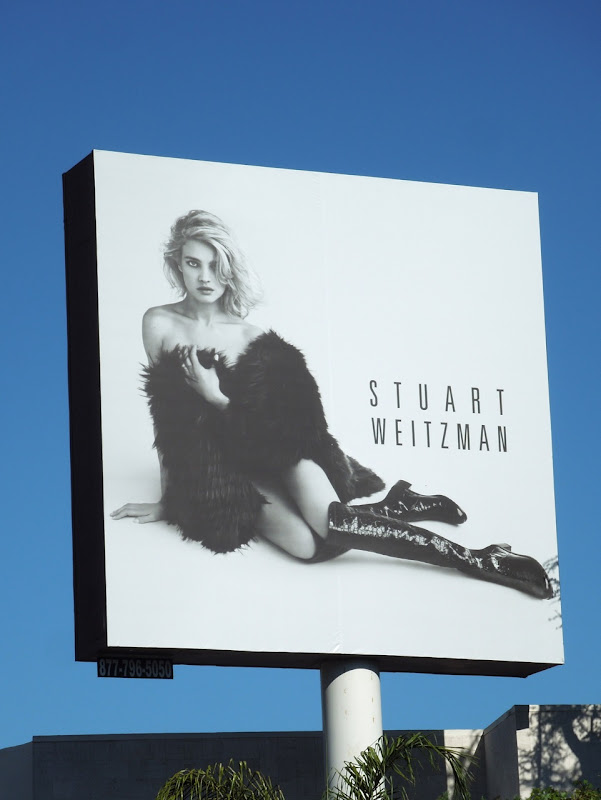 Stuart Weitzman boots billboard Oct 2012