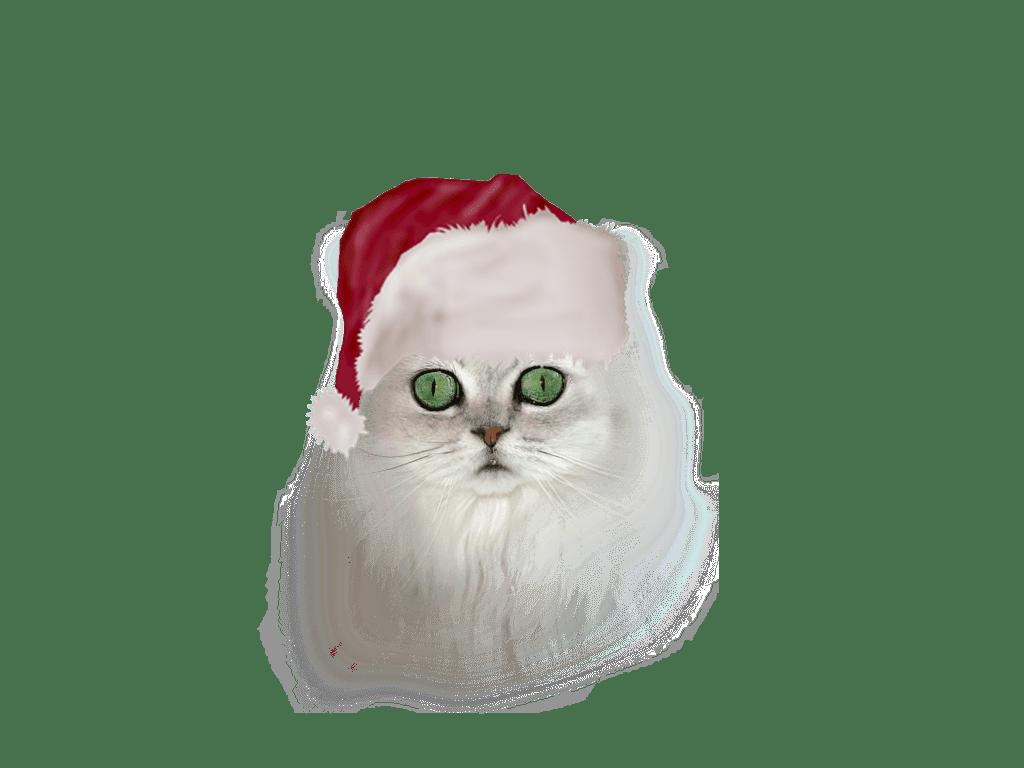 Creative Wallpapers For Iphone X Gatos Y Perros Con Gorro Papa Noel