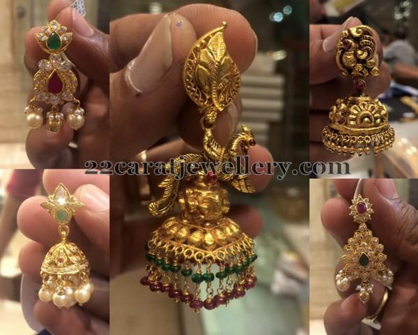Simple Earrings in 22 Carat Gold - Jewellery Designs