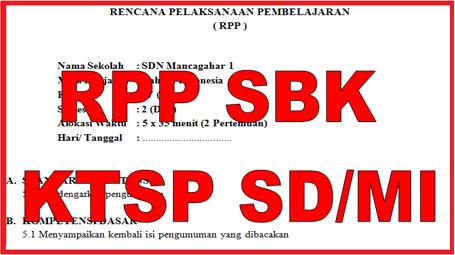 RPP SBK SD/MI Semester 1 dan 2