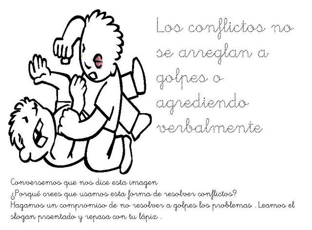 Fichas Infantiles Mensaje No Violencia Para Infantil