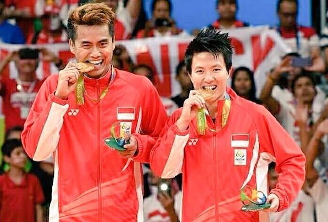 Tontowi Ahmad/Liliyana Natsir Sabet Medali Emas Olimpiade Rio 2016